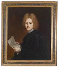 porträt eines knaben, der einen brief in der hand hält by pietro. nelli