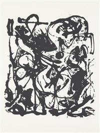 untitled (portfolio of 6) by jackson pollock