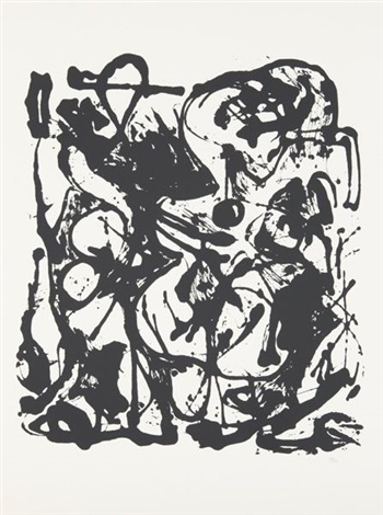 untitled portfolio of 6 by jackson pollock