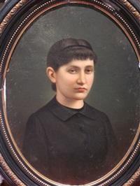 portrait d'une jeune femme by wilhelm kretzschmer