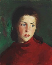 irish girl (mary lavelle) by robert henri