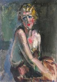 portrait d'une élégante by czeslaw zawadzinski