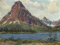 moutain landscape - possibly estes park, colorado by wilbur g. adam