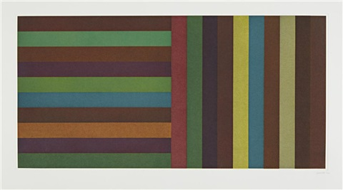 horizontal color bands and vertical color bands: plate 5 by sol lewitt