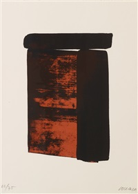 serigraphie no.12 by pierre soulages