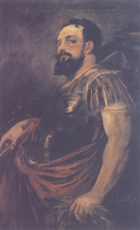 hans makarat in the costume of a roman general by leo reiffenstein