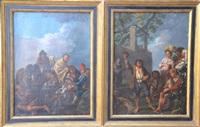 la partie de cartes des villageois et le joyeux buveur ou les réjouissances campagnardes (pair) by paolo monaldi
