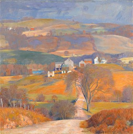 old farm in the hills by daniel garber