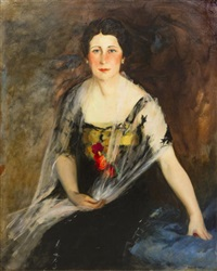 portrait of mrs. charles weidemann by robert henri