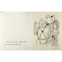 for the sake of a single verse by rainer maria rilke (24 works) by ben shahn