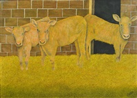 three calves by james lloyd