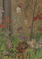 flowers in a green house by ithell colquhoun