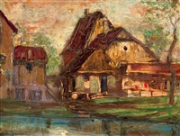 cottages by lajos gulácsy