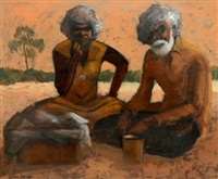 two aboriginal elders by alan william baker
