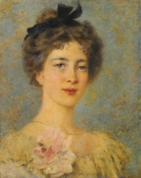 portrait of an elegant lady by konstantin egorovich makovsky