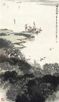 洞庭帆影 by song wenzhi