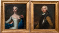 noble georg henrik lybecker (1720-1776) and his wife lady hedvig christina, born von knorring (1725-1801) (pair) by johan stålbom