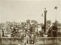 views of the north park cemetery, calcutta (2 works) by frederick fiebig