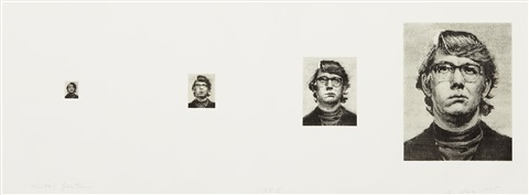 keithfour times 4 works on 1 sheet by chuck close