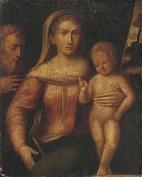 the holy family by giacomo francia