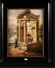 paysage animé aux ruines by françois antoine bossuet