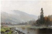 paysage norvégien by ludvig skramstad