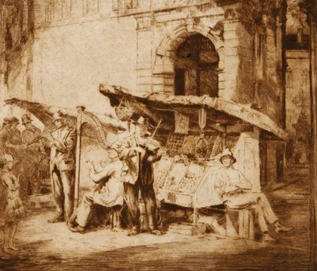 the street minstrels musicians by henri van raalte