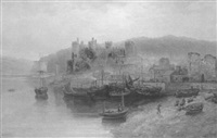 conway castle from the estuary by samuel lawson booth