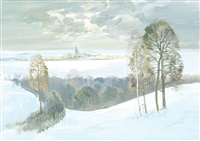 winterlandschaft by sumrev vasily
