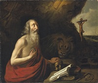 saint jerome in the desert by hendrick van somer