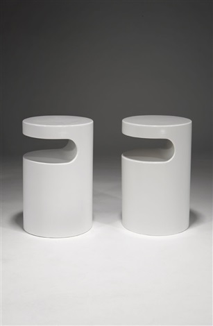 telephone tables pair by egon eiermann