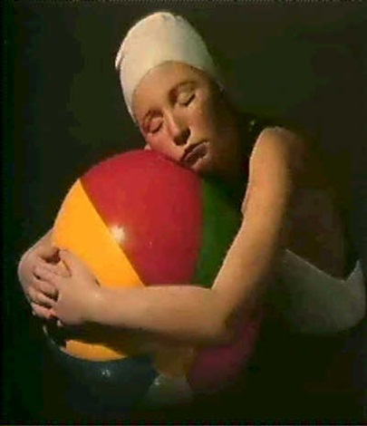 brooke with beach ball by carole a. feuerman