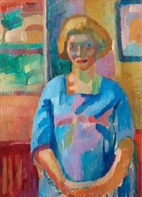 porträtt av konstnärens hustru by axel torneman