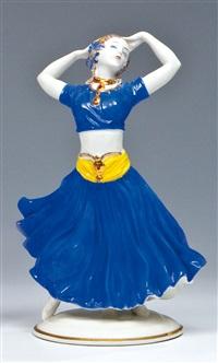 indische tänzerin by constantin holzer-defanti