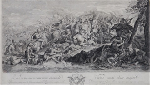 episodio de la batalla de alejandro magno after le brun by pierre picault