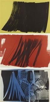 farandole (portfolio of 15 w/poem by jean proal) by hans hartung