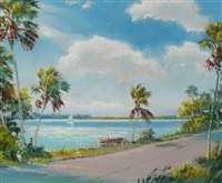 florida highwaymen river road scene by sam newton