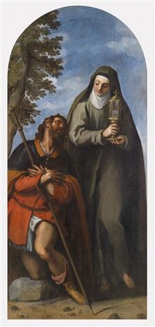 die heiligen rochus und klara by jacopo palma il giovane