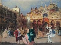 venezia mascherata in piazza san marco by erma zago