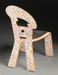 rare art nouveau chair in the grandmother pattern by robert venturi