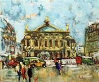 paris, place de l'opéra by emmanuel urbain huchet