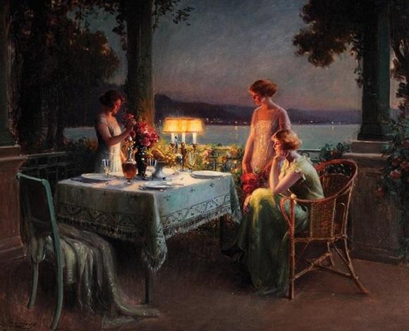 dîner entre amies sur la terrasse by delphin enjolras