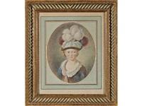 portrait d'un garçonnet coiffé d'un chapeau à plumes by jean-martial fredou