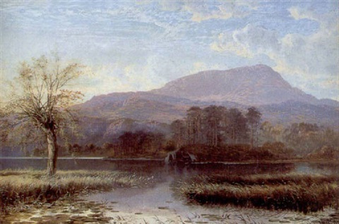 sunrise at the inlet of river brathay windermere lake by charles pettitt