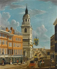 the church of saint magnus and old london bridge by samuel scott