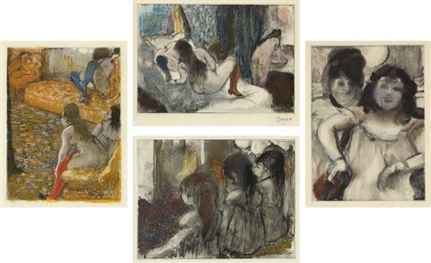 mimes des courtisanes de lucien set of 22 by edgar degas