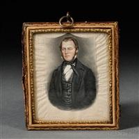 portrait miniature of a gentleman, reportedly a self-portrait of the artist by james sanford ellsworth