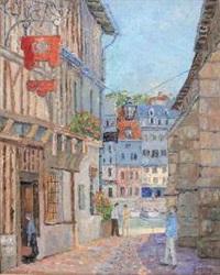 rue conduisant au port de honfleur by jacques camus