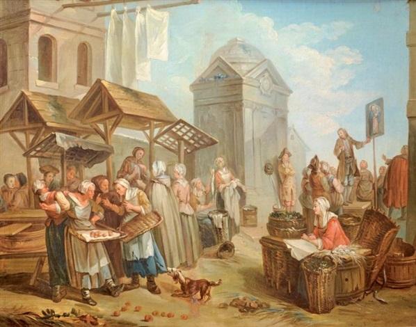 scène de marché by etienne jeaurat