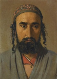 portrait of a jewish merchant by vasili vasilievich vereshchagin
